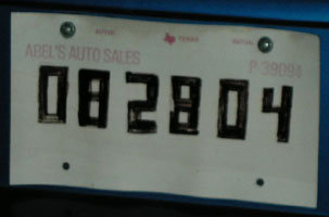 ... paper masquerading as a license plate. TEXAS - 082804 & Kitchen Discotheque - Home - Old News